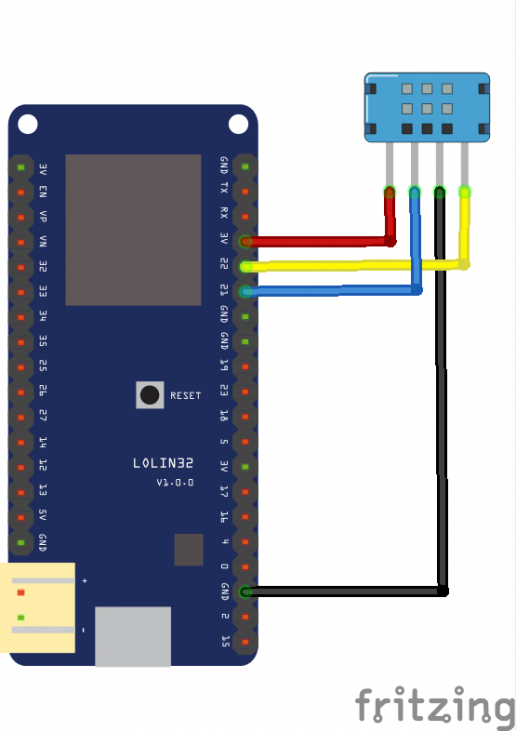 IoT LearningESP32 and DHT12 humidity temperature sensor